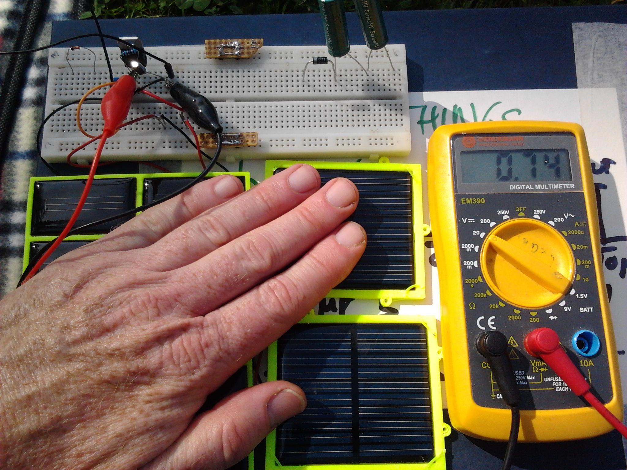 Voltage Current Regulation Energy Harvesting Few Lm317 Regulator Circuits Regulated1 Regulated2