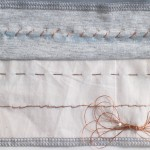 hand stitching with conductive thread