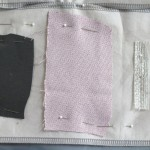 conductive trim, fabric and piezoresistive fabric
